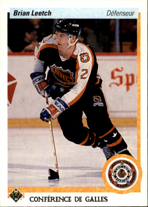 1990-91 Upper Deck French #485 Brian Leetch AS