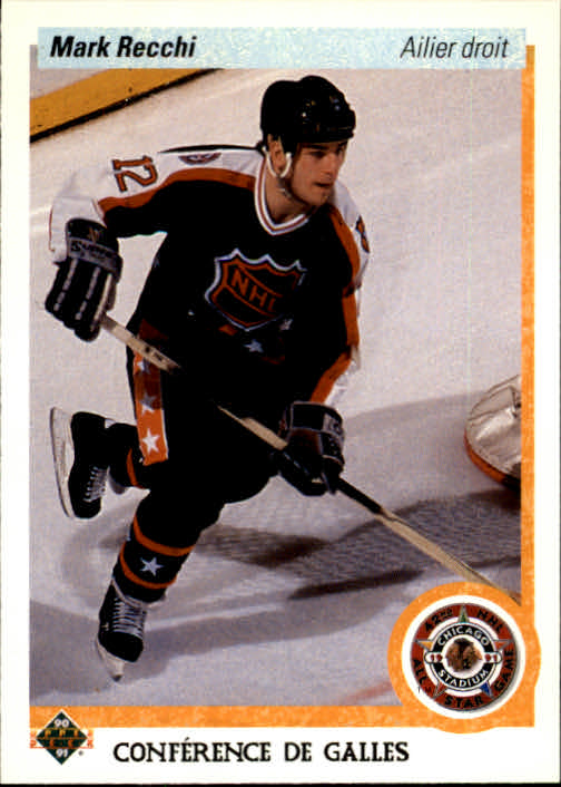 1990-91 Upper Deck French #487 Mark Recchi AS