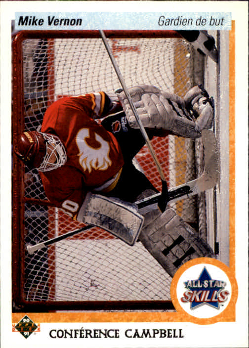 1990-91 Upper Deck French #495 Mike Vernon AS