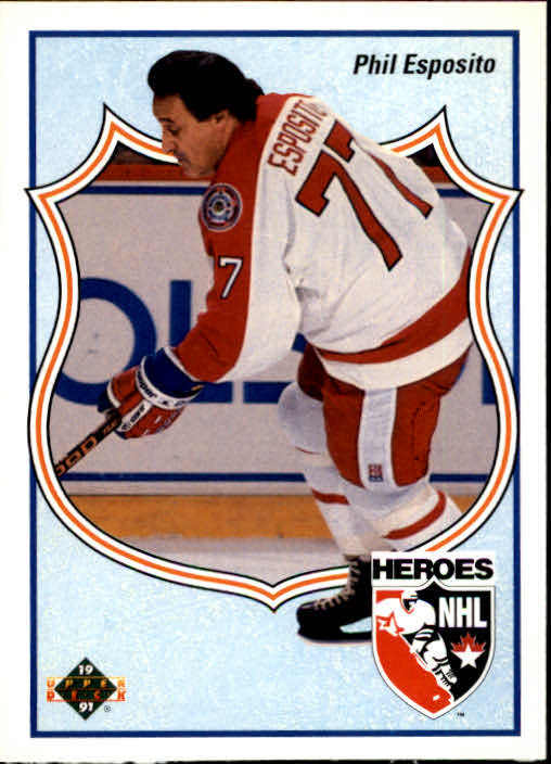 1990-91 Upper Deck French #510 Phil Esposito HERO
