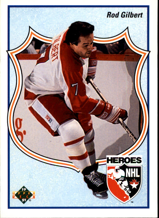 1990-91 Upper Deck French #512 Rod Gilbert HERO