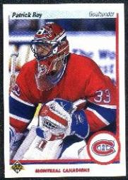 1990-91 Upper Deck Promos #241B Patrick Roy UER/Wrong height, feet/and inches reversed)