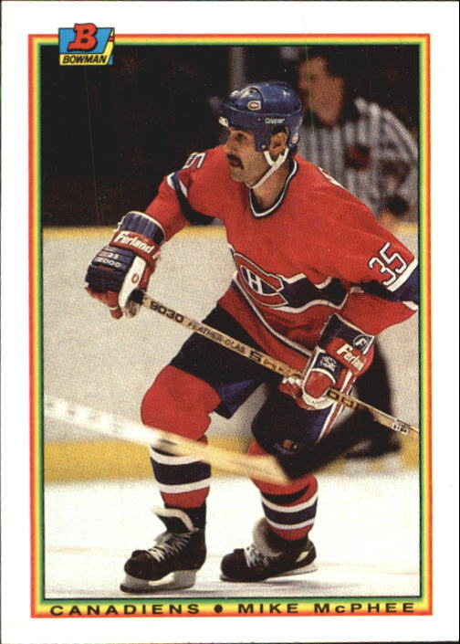 1990-91 Bowman #43 Mike McPhee