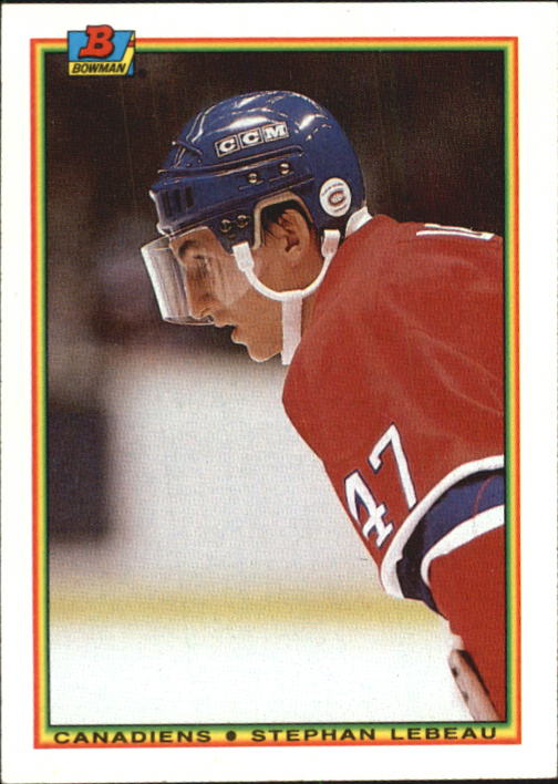 1990-91 Bowman #53 Stephan Lebeau RC