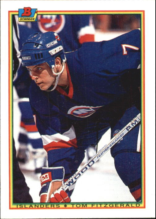 1990-91 Bowman #116 Tom Fitzgerald RC