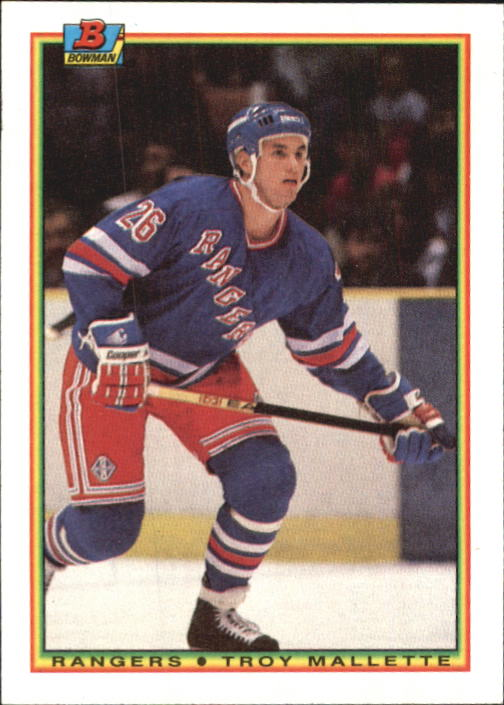 1990-91 Bowman #219 Troy Mallette RC