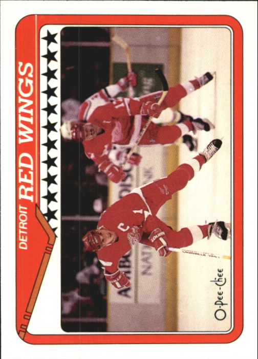 1990-91 O-Pee-Chee #133 Red Wings Team