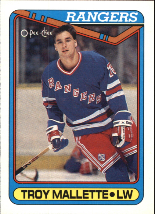 1990-91 O-Pee-Chee #277 Troy Mallette RC