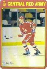 1990-91 O-Pee-Chee Red Army #18R Eugeny Davydov