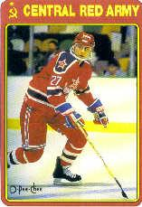 1990-91 O-Pee-Chee Red Army #20R Pavel Kostichkin