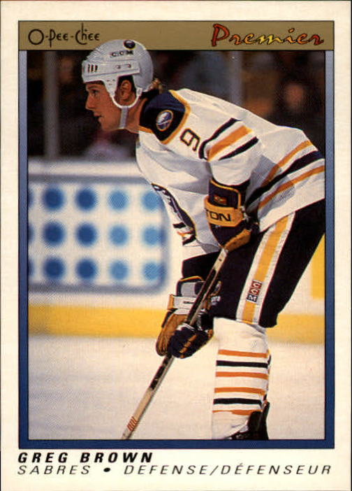 1990-91 OPC Premier #11 Greg Brown RC