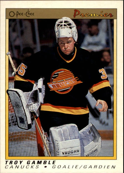 1990-91 OPC Premier #34 Troy Gamble RC