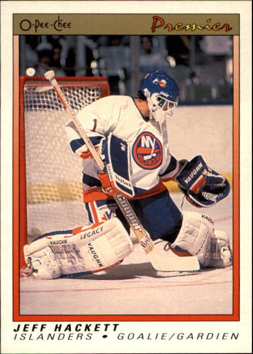 1990-91 OPC Premier #39 Jeff Hackett RC