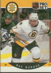 1990-91 Pro Set #1B Ray Bourque ERR/(Misspelled Borque/on card front)
