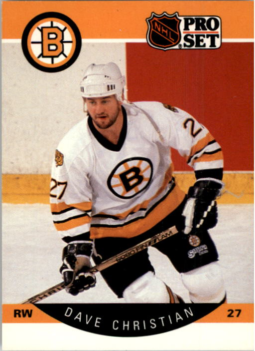 1990-91 Pro Set #6 Dave Christian UER/(28 games with Wash-/ington& 50 with Boston)