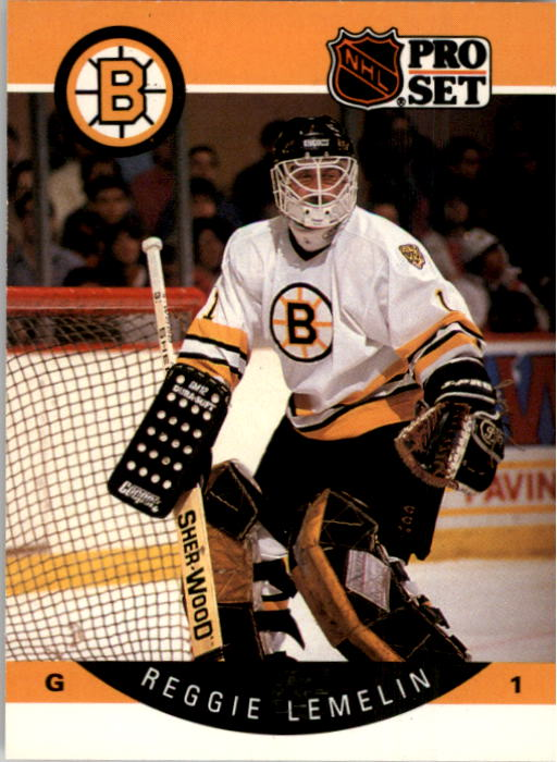 1990-91 Pro Set #9 Rejean Lemelin UER/(Wrong headings,/not for goalie; '89-90/stats are Andy Moog's)