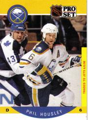 1990-91 Pro Set #21B Phil Housley COR/Traded logo