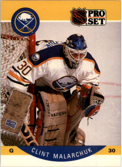 1990-91 Pro Set #25 Clint Malarchuk UER/(Back in action 11 days/after hurt& not 2 as/said on card)