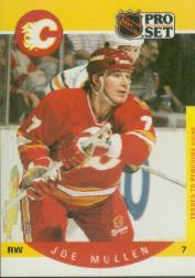 1990-91 Pro Set #40B Joe Mullen COR/Traded logo