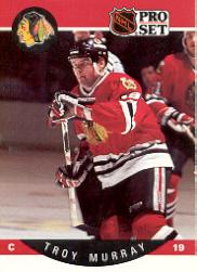 1990-91 Pro Set #57B Troy Murray/(Position and sweater/number are black)