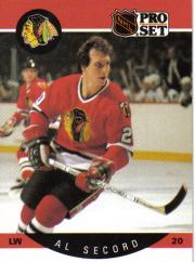 1990-91 Pro Set #60B Al Secord