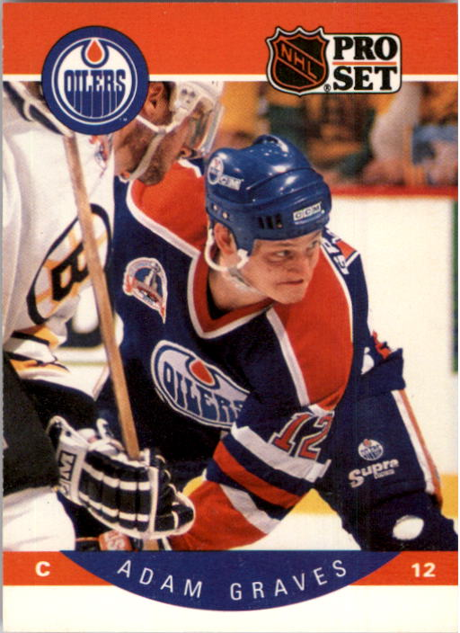 1990-91 Pro Set #84 Adam Graves RC UER/(Stats missing '89-90/Detroit info)