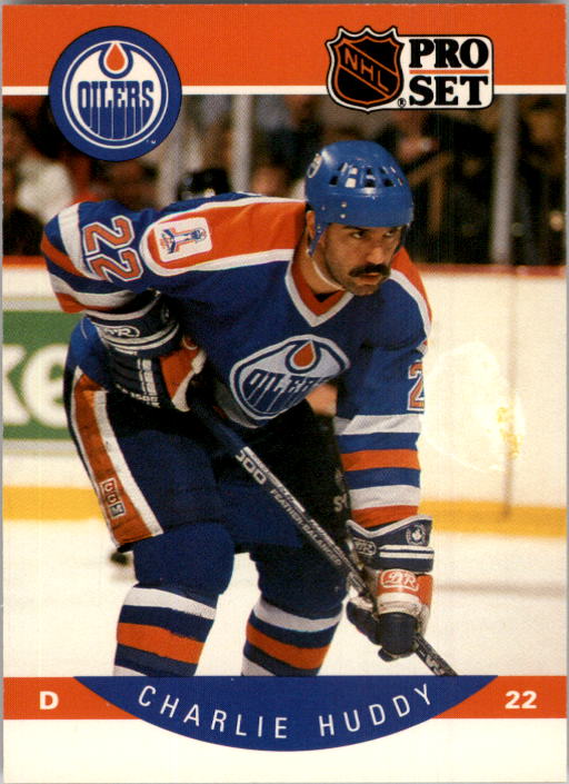 1990-91 Pro Set #85 Charlie Huddy UER/(No accent in 1st e/in Defenseur)