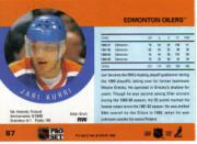1990-91 Pro Set #87B Jari Kurri COR/Signed with Milan on front back image