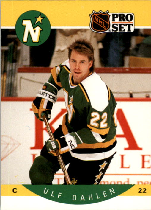 1990-91 Pro Set #136 Ulf Dahlen UER/(Rangers and Minnesota/stats not separate)
