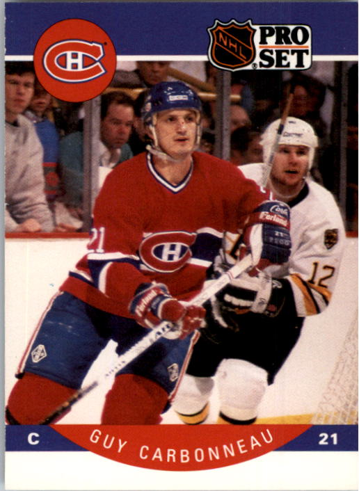 1990-91 Pro Set #146 Guy Carbonneau UER/(Sep Iles should be/Sept-Iles)