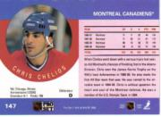 1990-91 Pro Set #147B Chris Chelios COR/Traded logo back image