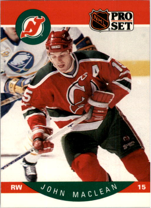 1990-91 Pro Set #170 John MacLean UER/(Should have apostrophe/after Devils)