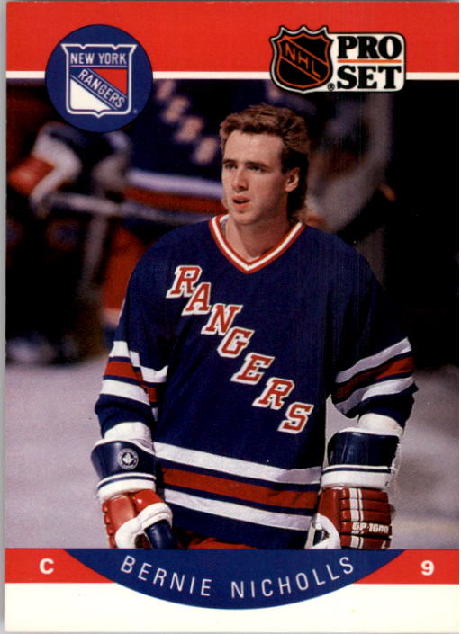 1990-91 Pro Set #204 Bernie Nicholls UER/(Kings and Rangers/stats not separate)