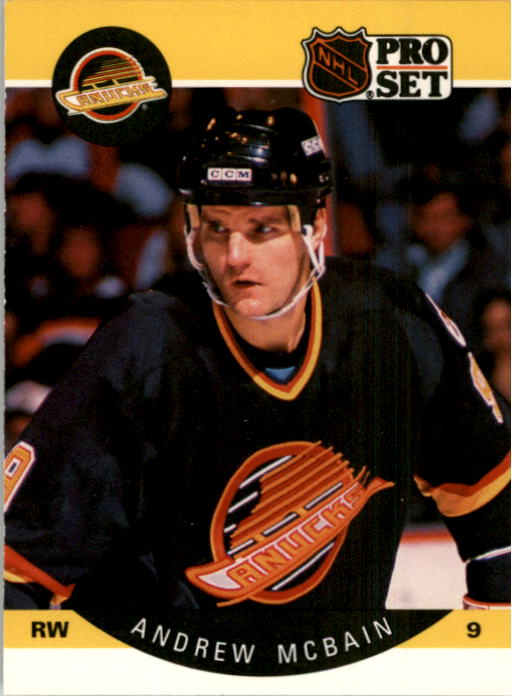 1990-91 Pro Set #301A Andrew McBain ERR/(Back photo actually/Jim Sandlak)