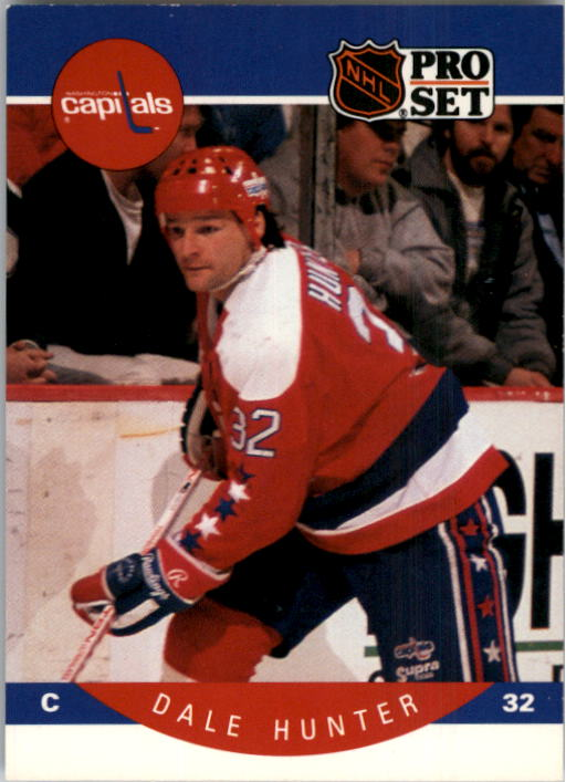 1990-91 Pro Set #312 Dale Hunter UER/(Text has rougish&/should be roguish)