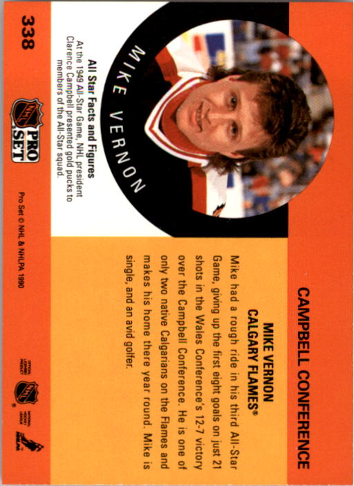 1990-91 Pro Set #338 Mike Vernon AS back image