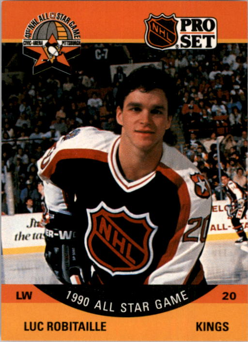 1990-91 Pro Set #341 Luc Robitaille AS UER/(Fewest shots by Eastern/AS's, not Boston)