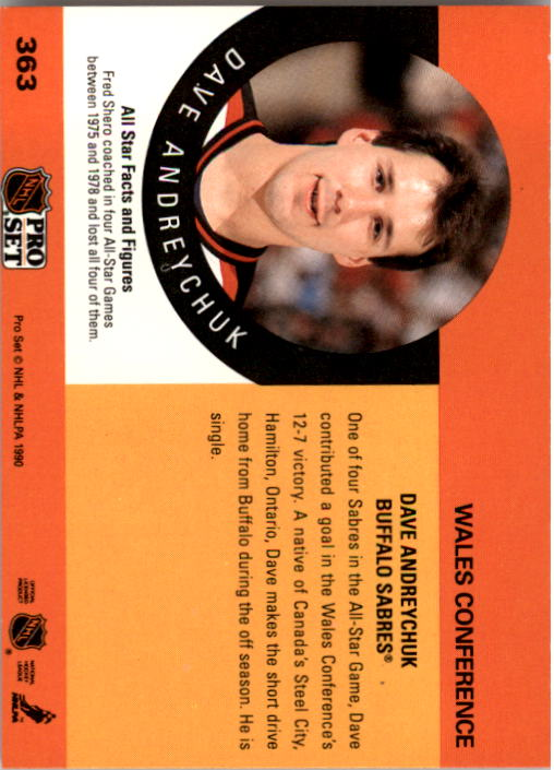 1990-91 Pro Set #363 Dave Andreychuk AS back image