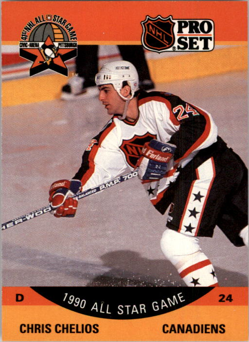 1990-91 Pro Set #368 Chris Chelios AS