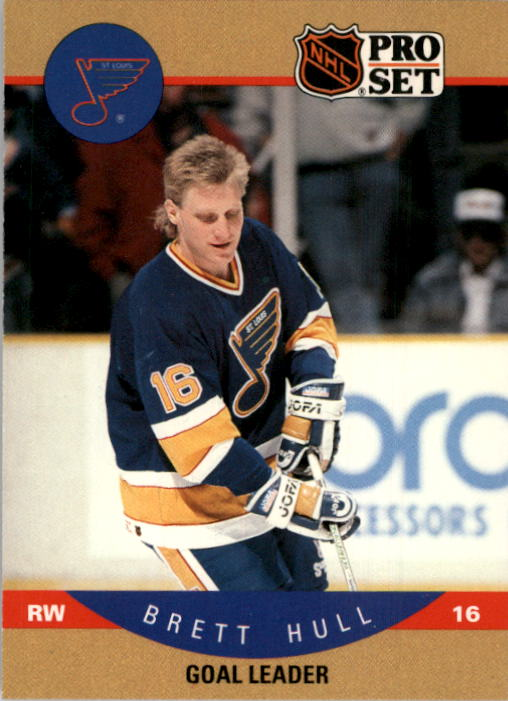 1990-91 Pro Set #395 Brett Hull LL UER/(Born 8/9/64,/not 9/9/64)