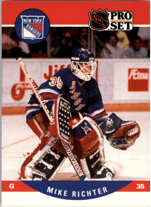1990-91 Pro Set #627 Mike Richter RC