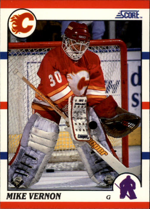 1990-91 Score #52 Mike Vernon UER/(Text says won WHL MVP/twice, should be once)