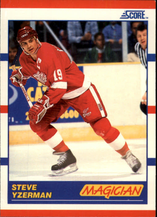 1990-91 Score #339 Steve Yzerman Magic
