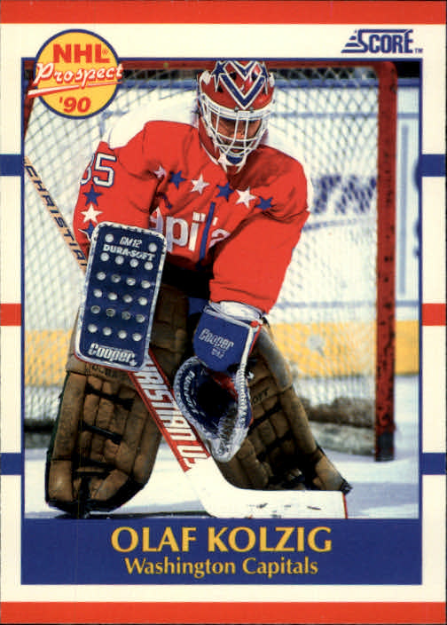 1990-91 Score #392 Olaf Kolzig RC UER#(photo actually Don Beaupre)