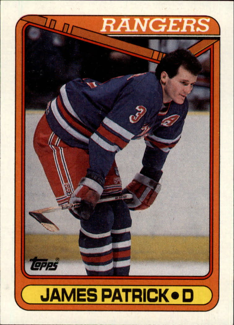 1990-91 Topps #131 James Patrick UER/(Orange border&/should be blue)