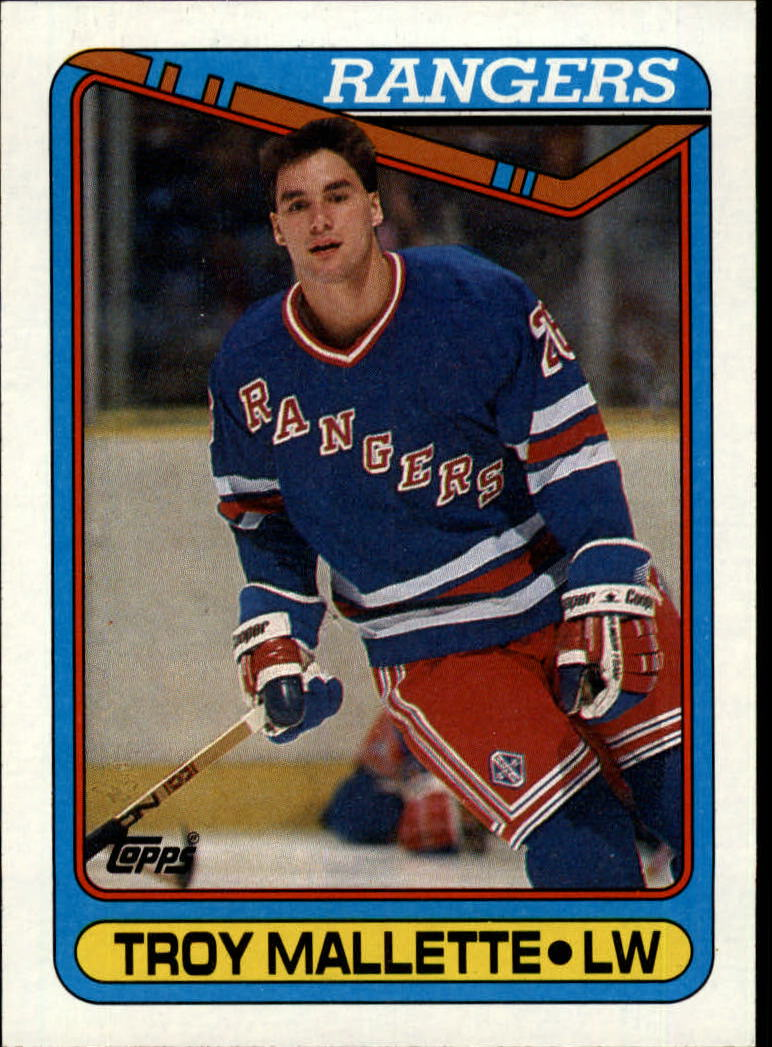 1990-91 Topps #277 Troy Mallette RC