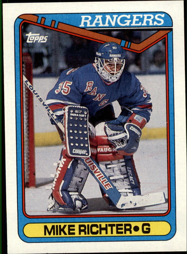 1990-91 Topps #330 Mike Richter RC