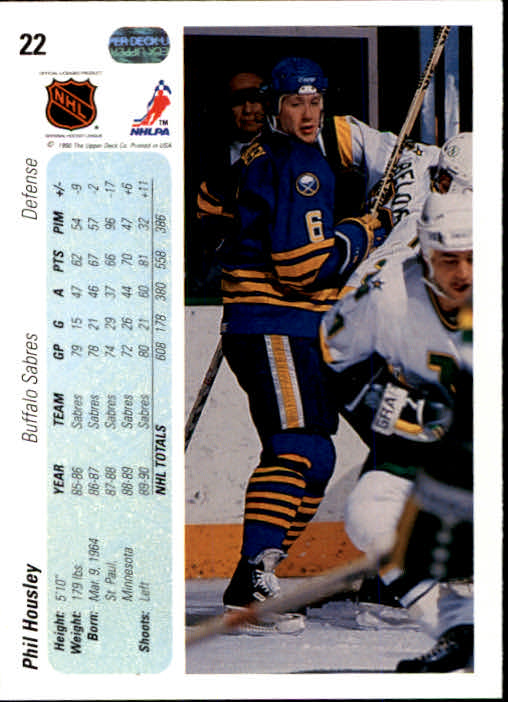 1990-91 Upper Deck #22 Phil Housley back image
