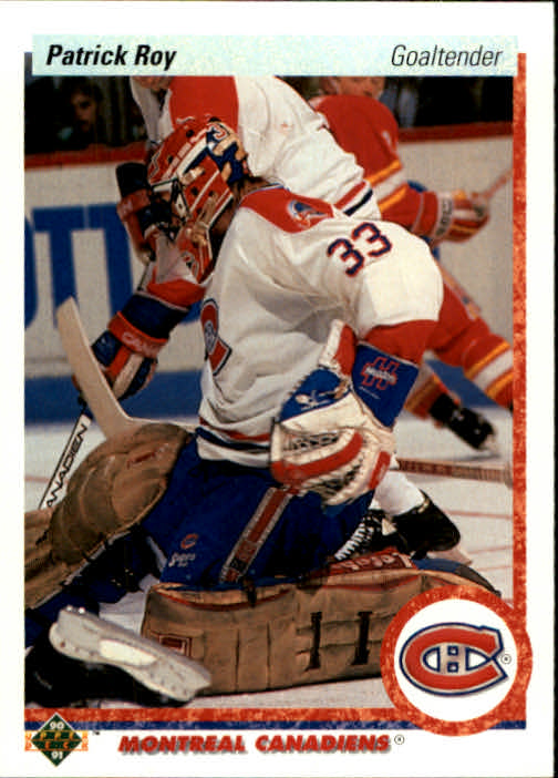 1990-91 Upper Deck #153 Patrick Roy UER/feet and inches reversed