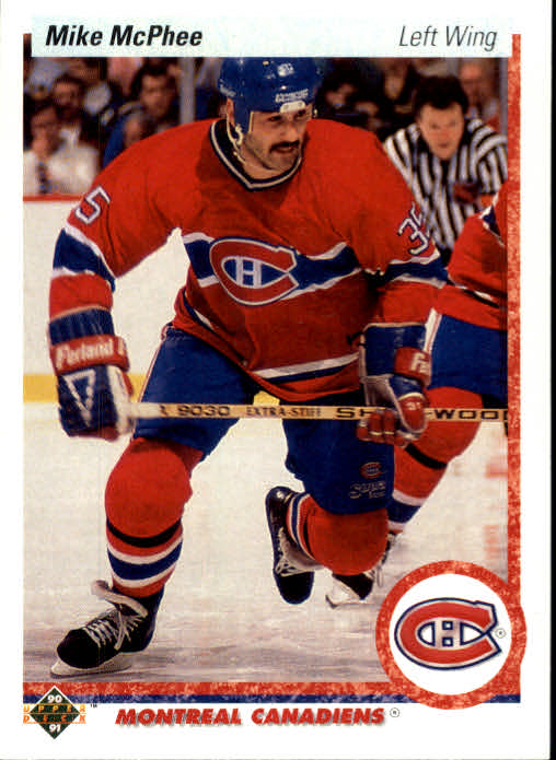 1990-91 Upper Deck #384 Mike McPhee